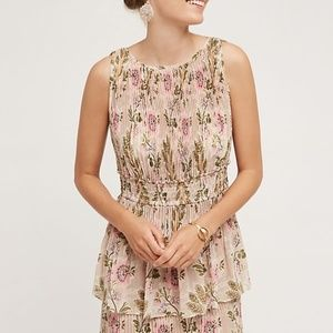 Anthropologie Tracey Reese Terraced Garden dress